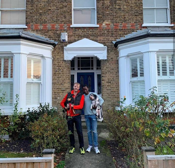 """""""From homeless boy to house owner twice"""" Bisi Alimi shows off second home he and husband acquired in London to celebrate 4th wedding anniversary"""