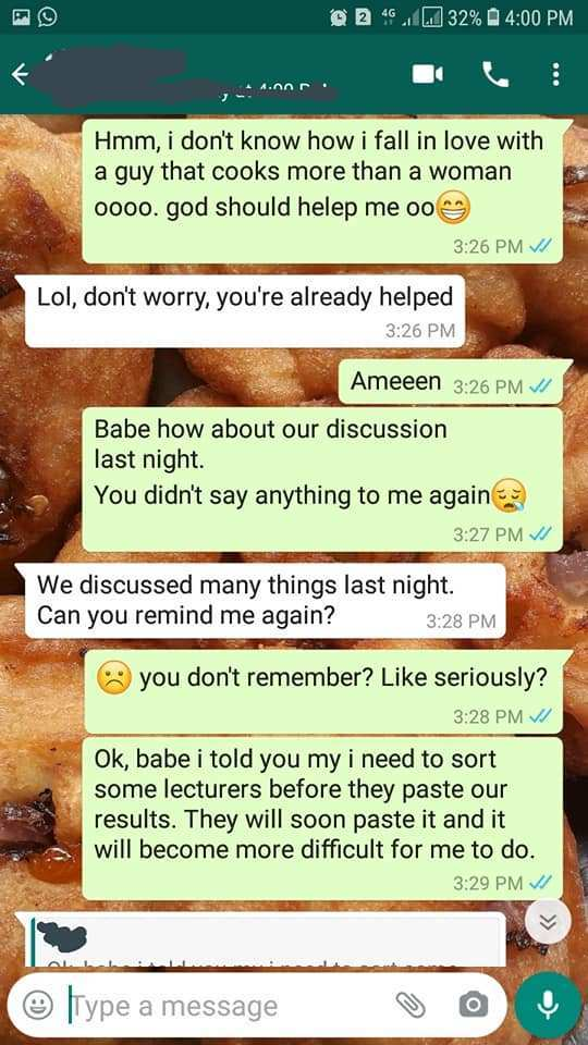 Man breaks up with his girlfriend a month to their introduction after she persistently asked him for money to sort lecturers in school