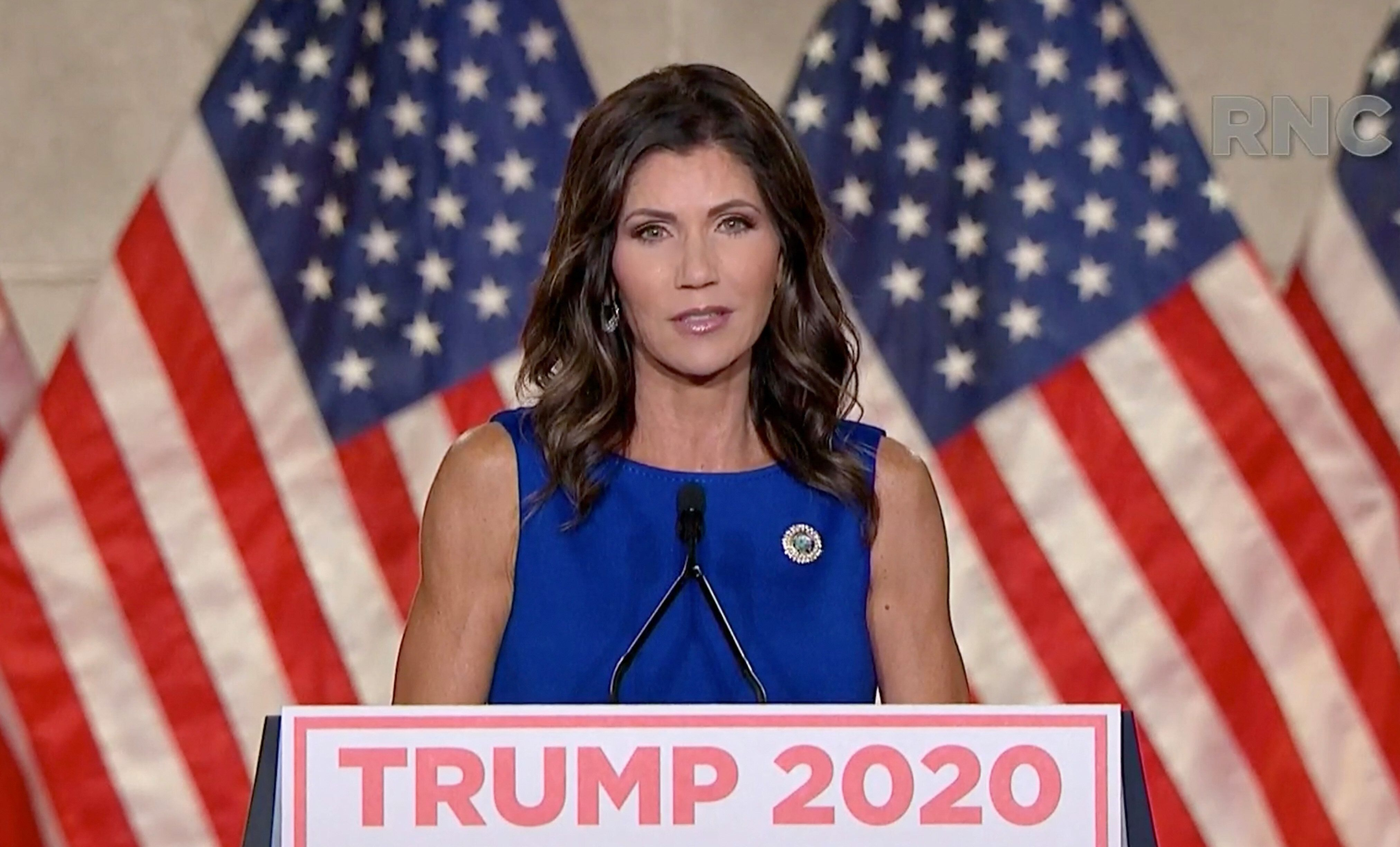 "South Dakota Gov. Kristi Noem boasted at August's Republican National Convention about her defiance of ""an elite class o"