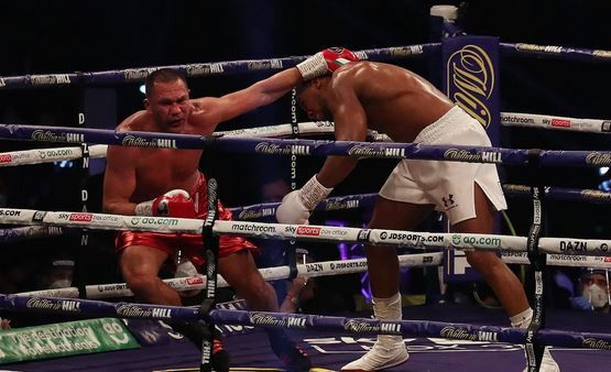 Anthony Joshua knocks out Kubrat Pulev to edge closer to dream fight against Tyson Fury