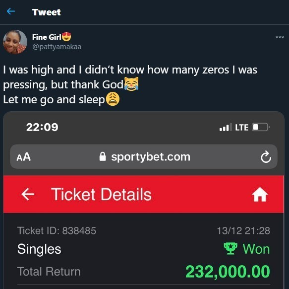 Nigerian lady reveals what happened after she unknowingly used N200k to play bet (Screenshot)