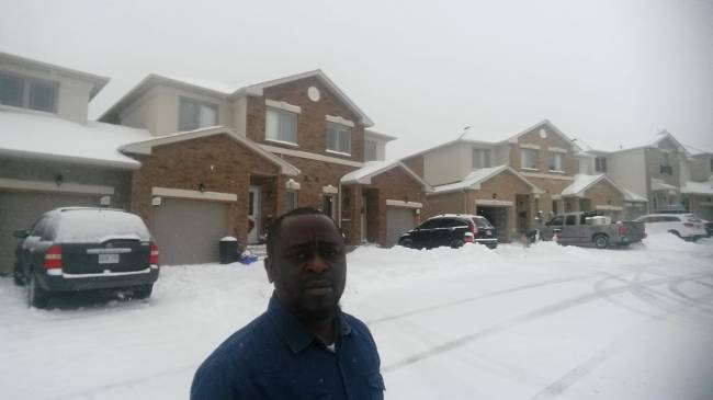 Nigerian man slammed for chilling in Canada while telling unemployed youths in Nigeria to go into pepper grinding business