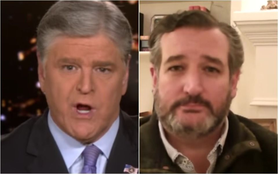 Hannity Goes All In Defending Cruz's Cancun Trip, Gets Contradicted By Cruz On Own Show