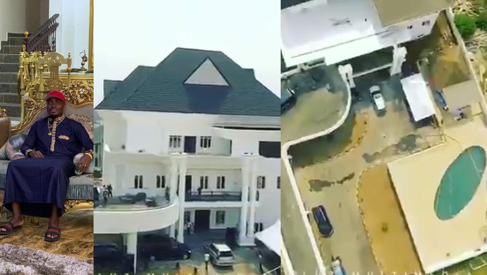 Nigerian footballer, Emmanuel Emenike shares video of his massive mansion in Owerri