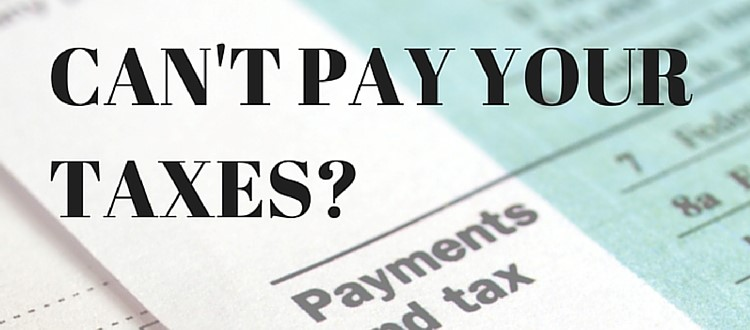 Can't pay your tax here are some options
