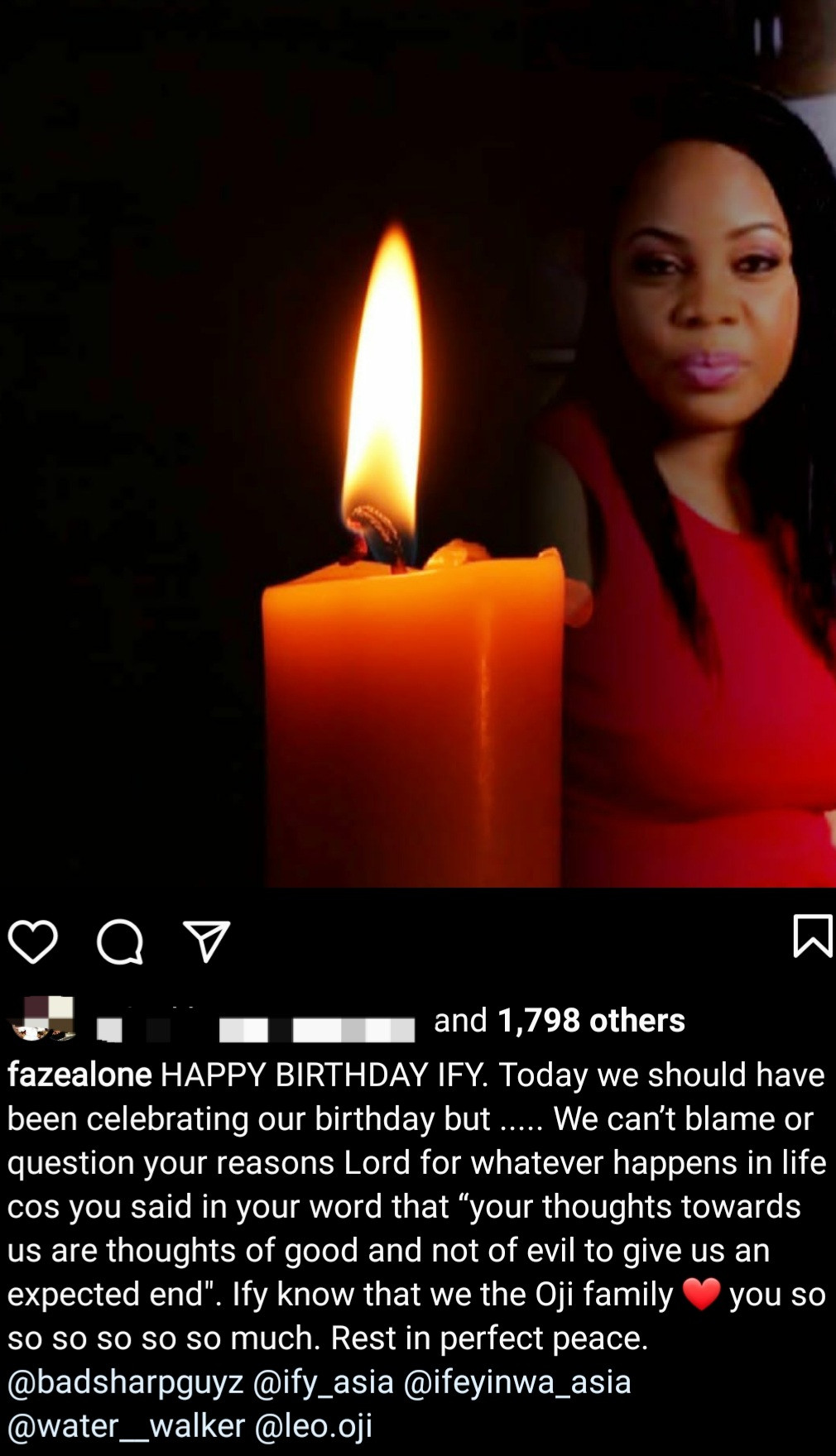 """Today we should have been celebrating our birthday"" Faze remembers his twin sister who died two days to their birthday"