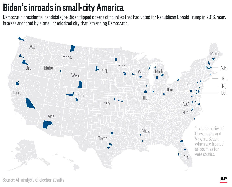Biden's inroads in small-city America