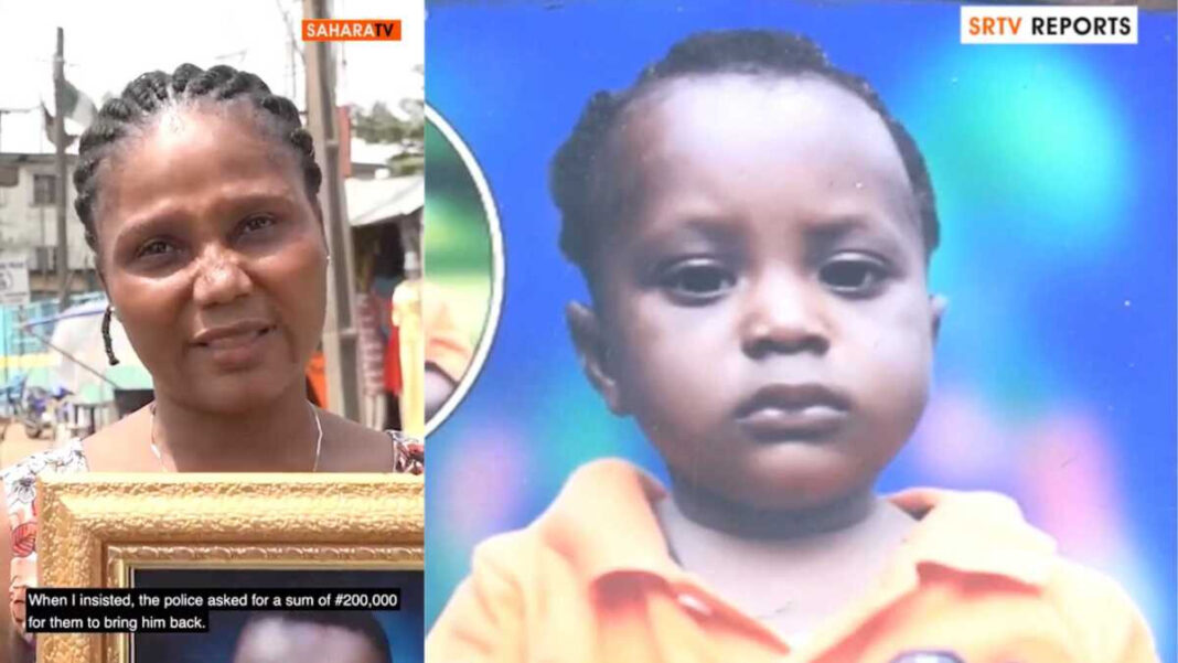 Lagos state police command reacts to allegation of giving out a child who has been missing for 4 years to a lady who is not his mother (video)