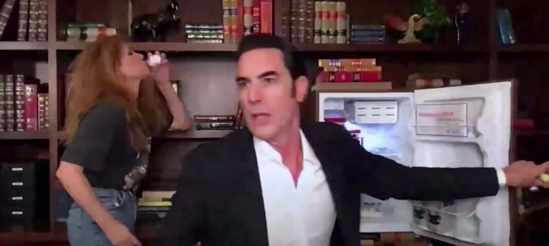 Sacha Baron Cohen Dings Donald Trump Jr., Kanye West In Wild COVID-19 Vaccine-Selling Video