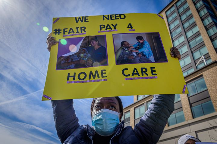 Home care aides typically make about $12 an hour, according to the U.S. Department of Labor. Boosting their pay would lift in