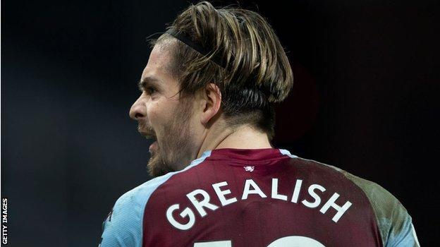 Aston Villa forward Jack Grealish