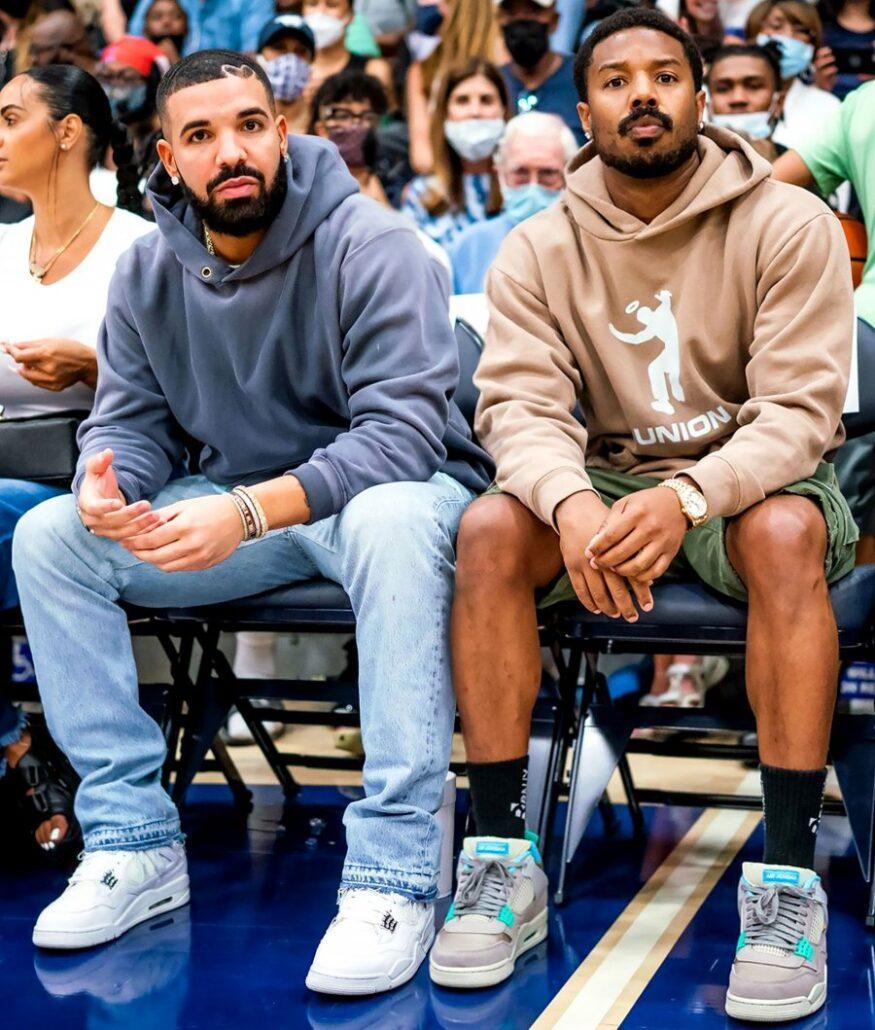 Hot Pics: Rapper Drake and actor Michael B. Jordan watched a high school varsity