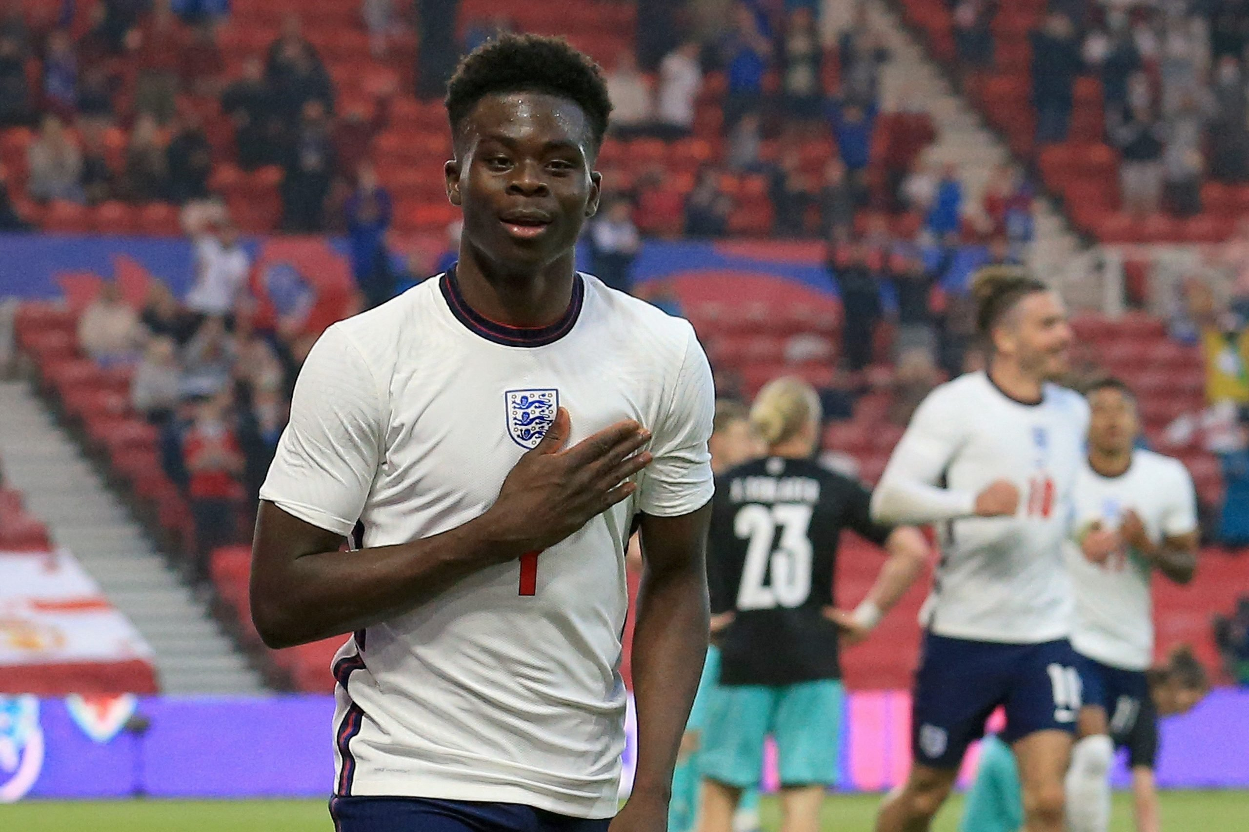 It's dream come true for me – says Saka after scoring first England goal