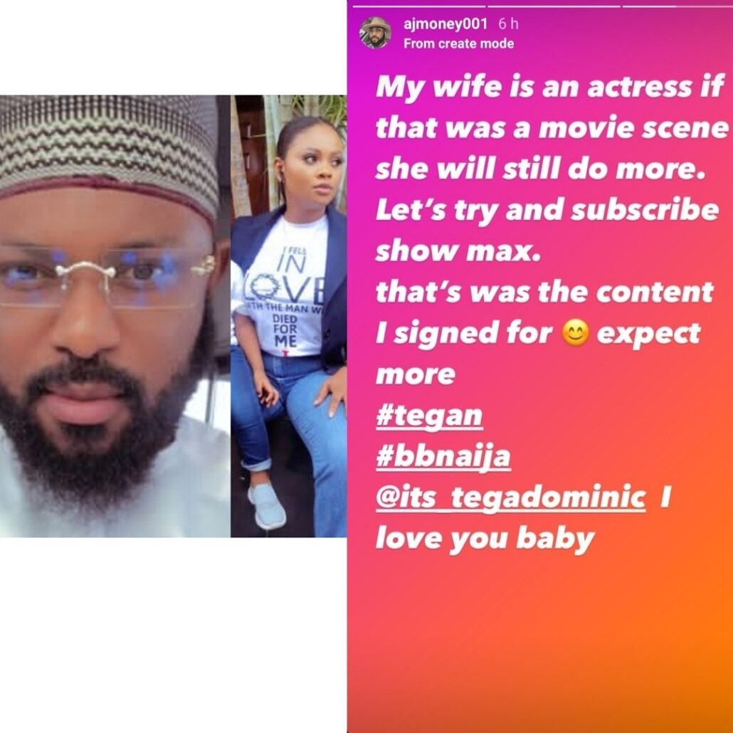 #BBNaija Tega allows male housemate, Saga, suck her breast on live TV; Tega's husband reacts Watch Video