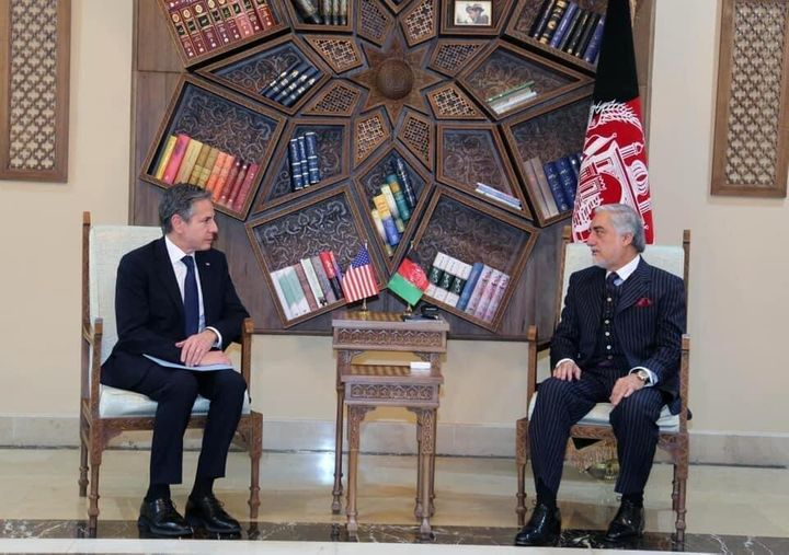 Secretary of State Antony Blinken meets Chairman of the High Council for National Reconciliation Abdullah Abdullah on the wit