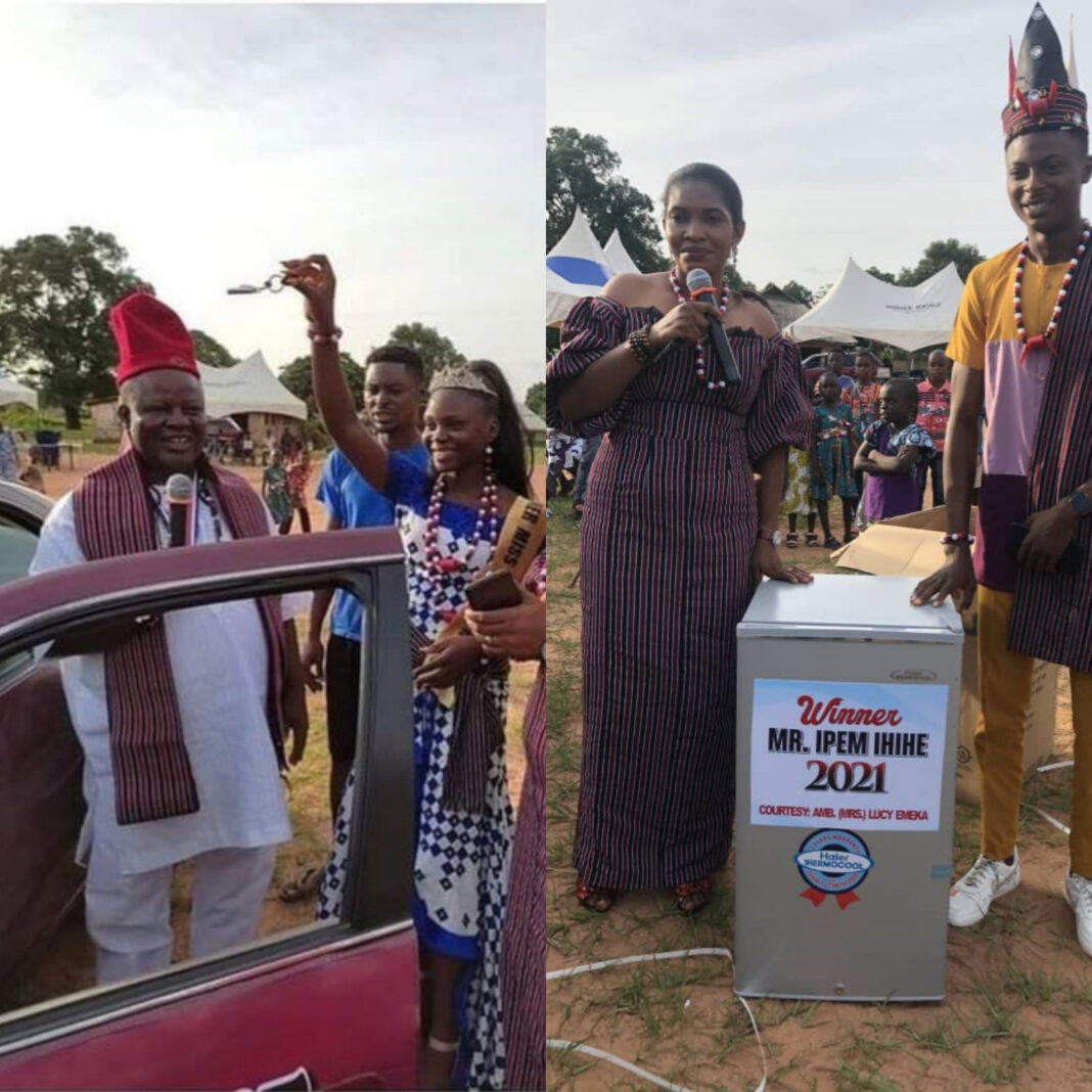 Gender inequality or not? Gifts given to winners of Mr and Miss Ipem Ihihe pageant starts debate
