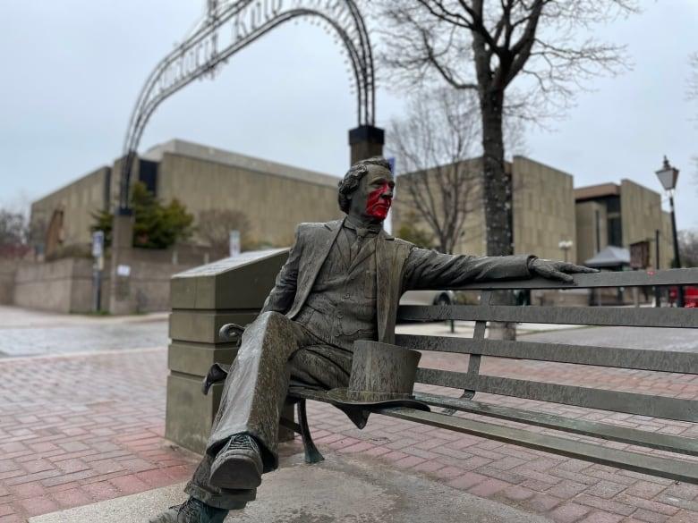 Meet the Mi'kmaw artist revamping Charlottetown intersection where a bronze John A. Macdonald once sat