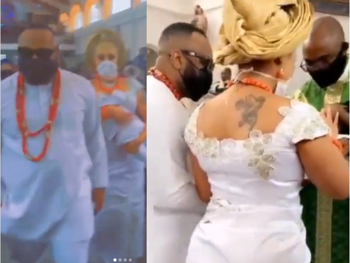 Olakunle Churchill and wife Rosy Meurer dedicate their son in church (video)