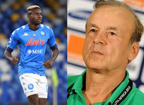 Victor Osimhen is not a World-class striker yet, says Super Eagles coach, Rohr