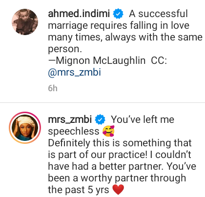 """""""You have been a worthy partner through the past 5 years"""" - Zahra Buhari praises her husband, Ahmed Indimi"""